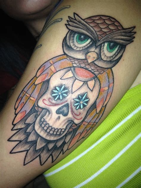 sugar skull owl tattoo my lovely sugar skull owl i shall call miss