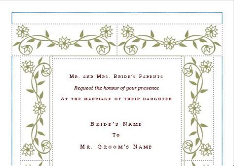 wedding party invitation template blue layouts