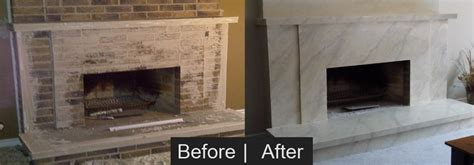 paint brick fireplace before after home painting and faux finish specialists benny s painting