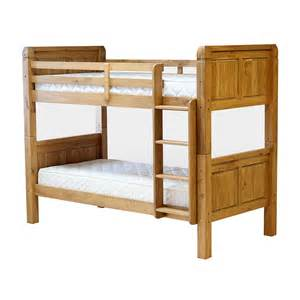 Pine Wood Bunk Beds Corona Bunk Bed Frame Separable Beds Ladder Wood Light Waxed Finish Ebay