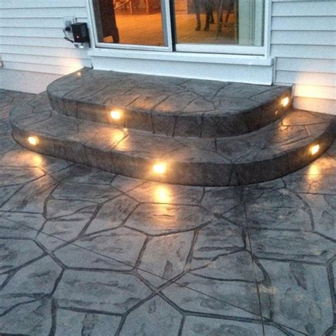 patio step lights patio lighting ideas