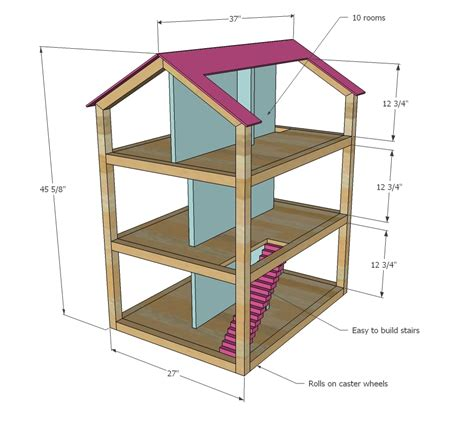 woodwork doll house plans  plans