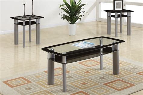 glass coffee and end table sets glass coffee table sets home design ideas