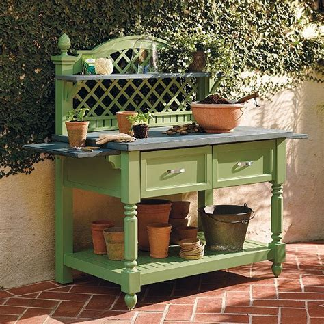 outdoor potters bench caroline potting outdoor bench frontgate