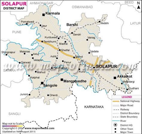 road map from mapusa to pandharpur solapur district map