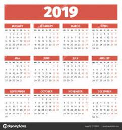 Calendario 2019 Portugues Plantilla Calendario 2019 Vector De Stock 169 123sasha