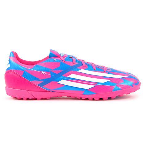 adidas  trx tf pinkwhiteblue turf soccer shoes