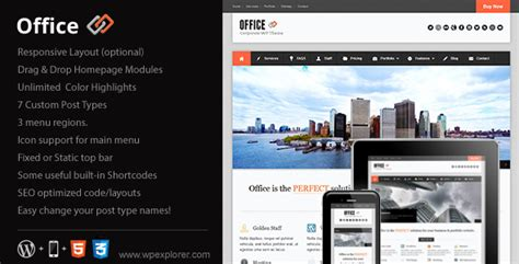 theme wordpress office office responsive business theme wordpress themeforest
