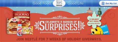 Nestle Sweepstakes - countdown to the holidays with nestl 233 sweepstakes win a 100 wal mart gift card
