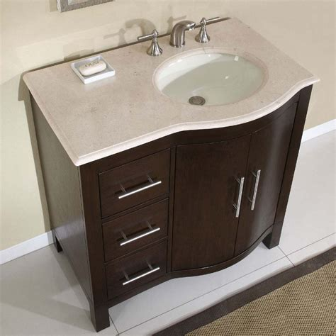 "36"" Perfecta PA 223   Single Sink Cabinet Bathroom Vanity"
