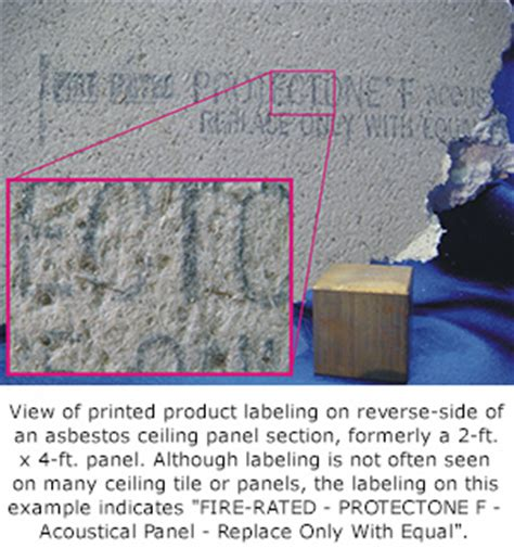 how to tell if ceiling tiles contain asbestos