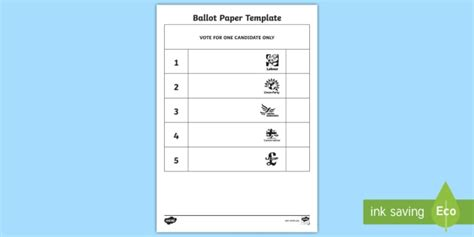 voting slips template vote slips ballot paper template play play