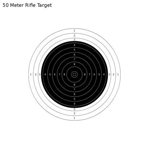 50 meters to file 50 meter rifle target svg
