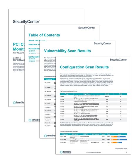 pci continuous monitoring report sc report template
