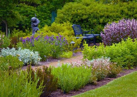 garden resources and trends fall blooming perennials using native perennials in a formal border with mt cuba