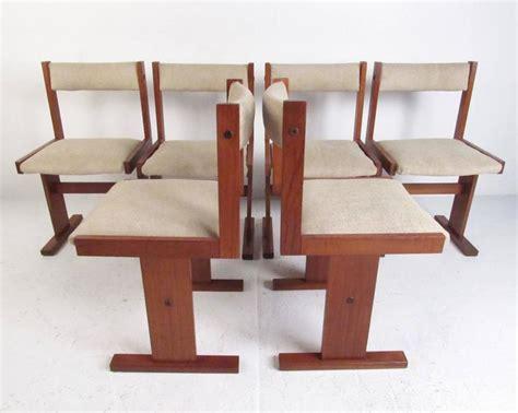 2 danish modern nordic furniture teak dining room side set of six scandinavian modern teak dining chairs for sale