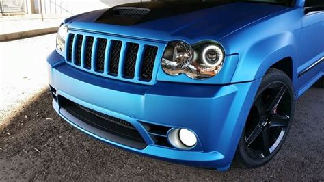 matte blue jeep cherokee jeep grand cherokee 3m matte metallic blue vinyl wrap
