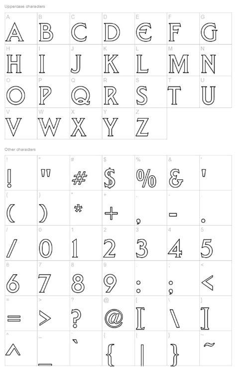 Free Fonts Outline Letters