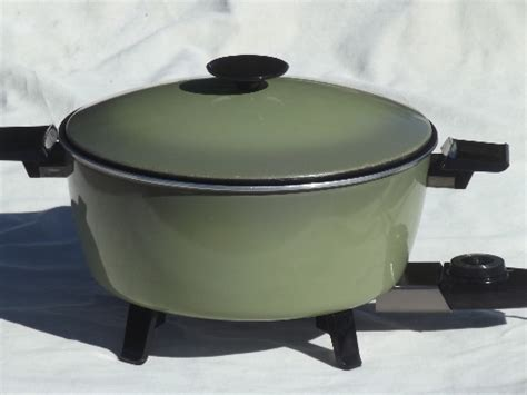Vintage Kitchen Appliances For Sale - vintage west bend country kettle electric cooker retro avocado green