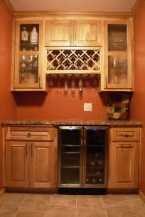 Wine Cooler For Kitchen Cabinets Hickory Bar