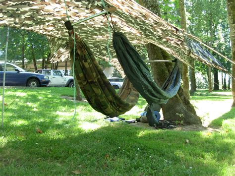 Tarp Hammock two hammocks a single tarp bat wing and hex shaped tarps sbtactical