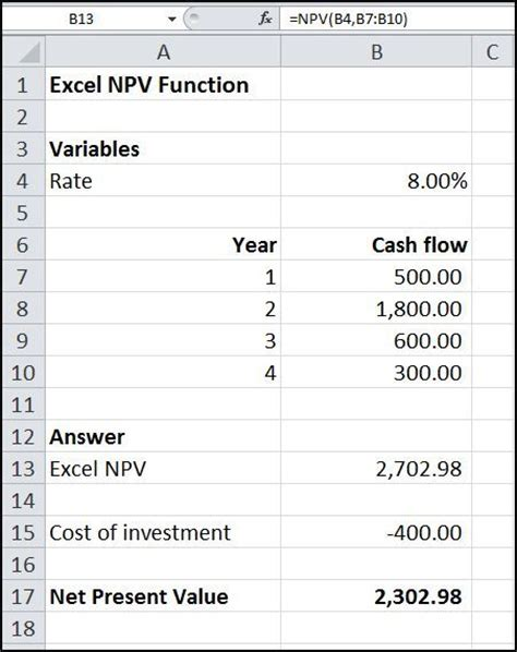 net present value with casio financial calculator example 1 youtube