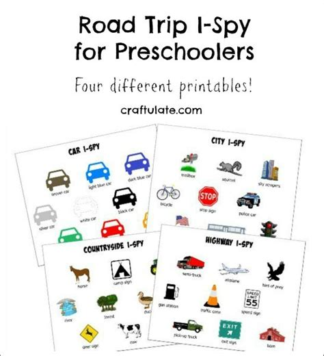 printable road trip games for preschoolers road trip i spy for preschoolers craftulate