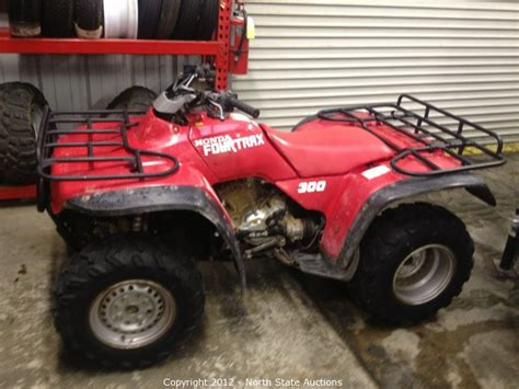 1991 honda fourtrax 300 state auctions auction motorcycle extravaganza