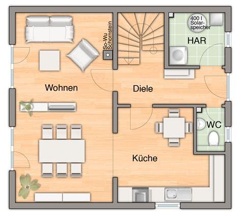 Grundriss Haus 100 Qm by Haus Das Raumwunder 100 Hausbau24