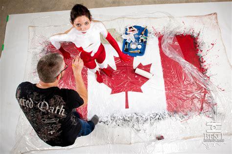 canada flag body painting marcdoironca