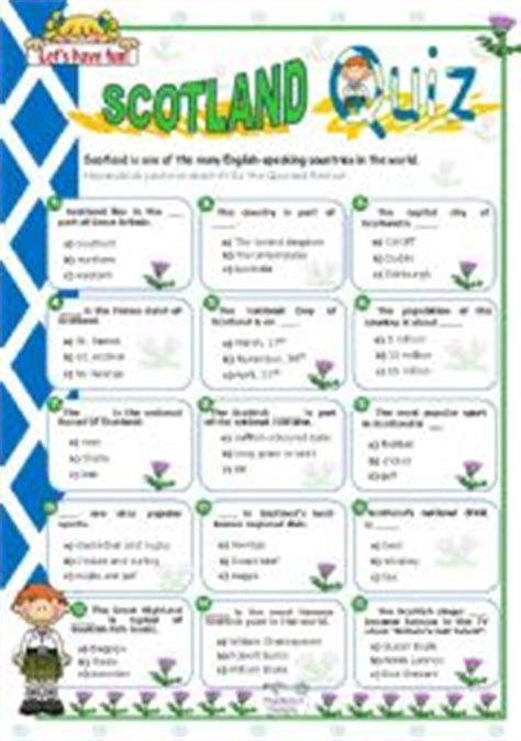printable quiz about scotland english worksheets the countries worksheets page 4