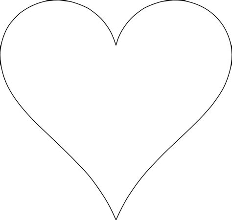 heart template clipart best