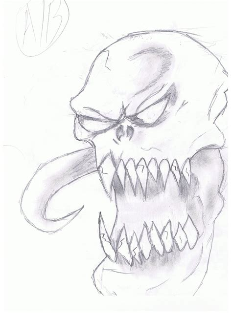 doodle how to make demons scary drawing www imgkid the image kid has it