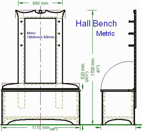 hall bench plans woodworking plans