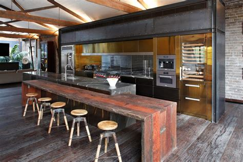 warehouse kitchen design 59 cool industrial kitchen designs that inspire digsdigs