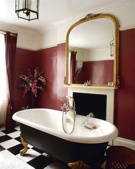 maroon bathroom decor claw foot photos 6 of 10