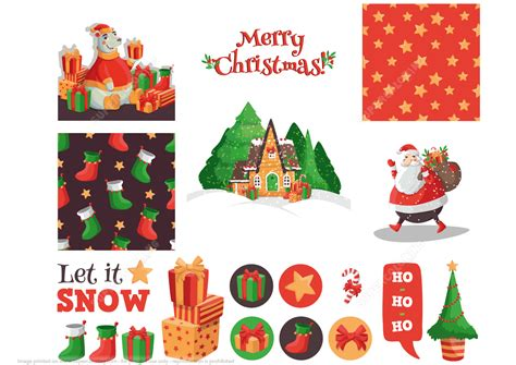 printable santa stickers printable christmas cards notes and stickers with santa