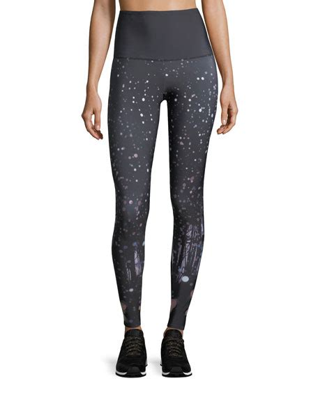 N40 Sky Flow Spandex onzie high rise firefly graphic performance neiman