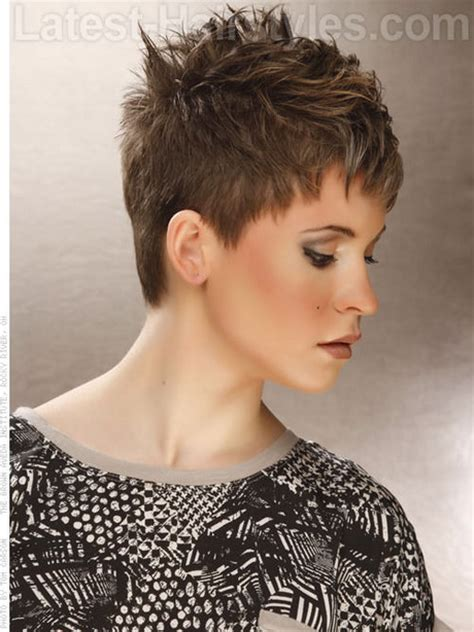 blow dry pixie choppy hairstyles for short hair