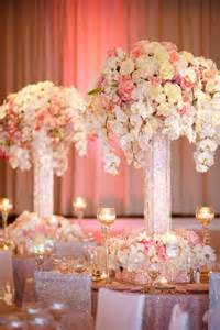 pink decorations for weddings 1000 ideas about yellow centerpiece wedding on