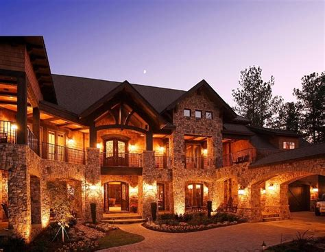 lodge style home craftsman style lodge house