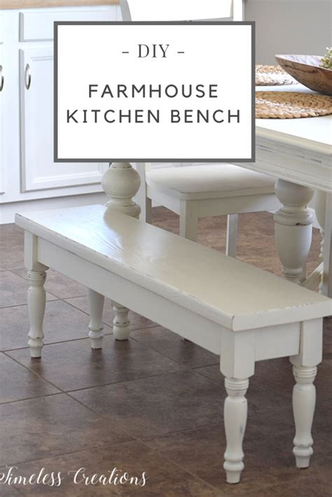 bed bath and beyond lakeline diy farmhouse kitchen bench timeless creations llc
