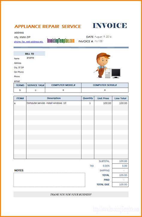 18 free hvac invoice templates demplates