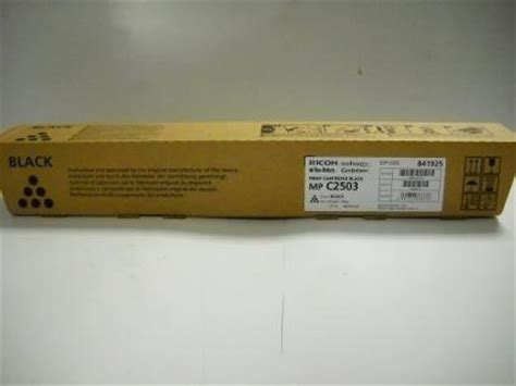 Toner Original Ricoh M P C 2503 original ricoh toner mp c2503h black nr 841925