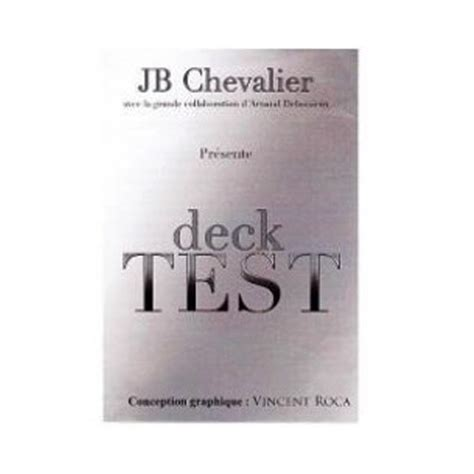 magic deck test deck test de jb chevalier zigzag import