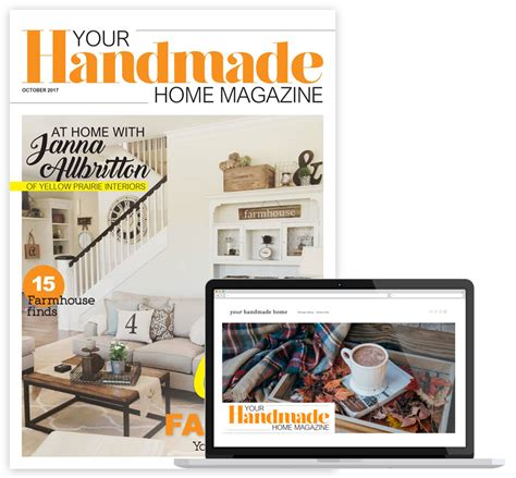 Handmade Home Magazine - magazine publishing launches and publisher resources