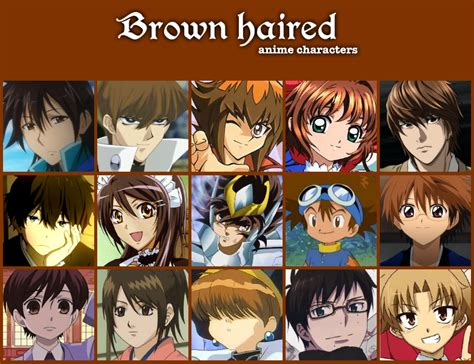 anime hairstyles determine personality anime personality hair color brown haired anime