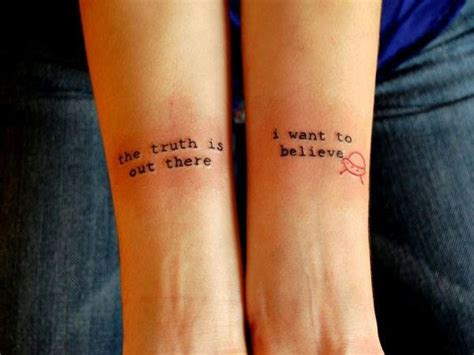small quote tattoo on arm truth believe alien tattoo awesomeness pinterest