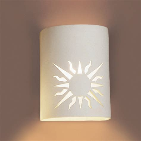 Ceramic Wall Sconce 7 Quot Southwestern Sunburst Ceramic Sconce Contemporary
