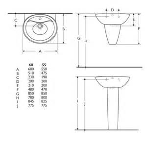 Standard Bathroom Basin Height Ideal Standard Purity Bathroom Suite